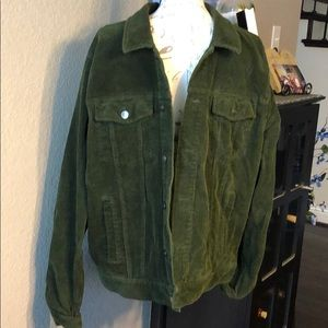 Forever21  XL  Men's green corduroy jacket